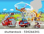 cartoon stage with different... | Shutterstock . vector #534266341