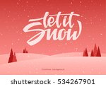 vector illustration  hand... | Shutterstock .eps vector #534267901