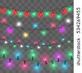 christmas lights. glowing... | Shutterstock .eps vector #534269455