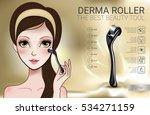 derma roller ads. vector... | Shutterstock .eps vector #534271159