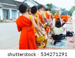 laos buddhist monks and... | Shutterstock . vector #534271291