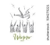 vector hand drawn winner... | Shutterstock .eps vector #534275221
