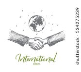 vector hand drawn international ... | Shutterstock .eps vector #534275239