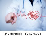 finger write red heart with the ... | Shutterstock . vector #534276985