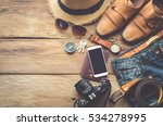 travel clothing accessories... | Shutterstock . vector #534278995