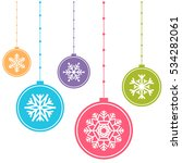 colorful christmas balls... | Shutterstock . vector #534282061