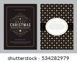 christmas greeting card or... | Shutterstock .eps vector #534282979