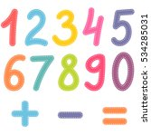 numbers from zero to nine and... | Shutterstock . vector #534285031