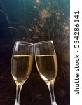glasses with champagne against...   Shutterstock . vector #534286141