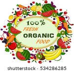 organic fresh food | Shutterstock .eps vector #534286285
