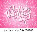 vector happy valentines day... | Shutterstock .eps vector #534290209