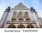 Small photo of POZNAN, POLAND - NOVEMBER 21, 2016: Front part of the historic Adama Mickiewicz University building in the city center
