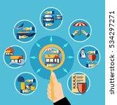 insurance flat diagram design... | Shutterstock .eps vector #534297271
