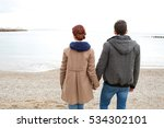 rear view of a young tourist... | Shutterstock . vector #534302101