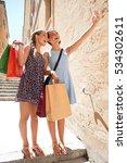 joyful teenagers girls friends...   Shutterstock . vector #534302611
