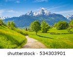 Idyllic Summer Landscape With...
