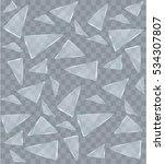 vector transparent broken glass ... | Shutterstock .eps vector #534307807