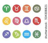 Zodiac Signs Flat Design...