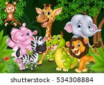cartoon wild animal in the... | Shutterstock . vector #534308884