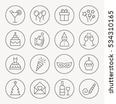 party thin line icon set | Shutterstock .eps vector #534310165