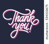 """thank you"" digital lettering.... | Shutterstock .eps vector #534310675"