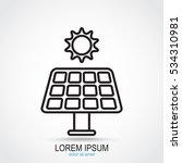 line icon  solar panel | Shutterstock .eps vector #534310981