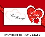 love message card with shining... | Shutterstock .eps vector #534312151