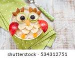 kids breakfast oatmeal porridge ... | Shutterstock . vector #534312751