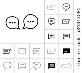 thin line chat  speech  bubble  ... | Shutterstock .eps vector #534318085