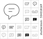 thin line chat  speech  bubble  ... | Shutterstock .eps vector #534318169