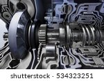 gearbox cross section  engine... | Shutterstock . vector #534323251
