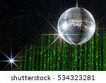disco ball with stars in... | Shutterstock . vector #534323281