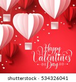happy valentines day  greetings ... | Shutterstock .eps vector #534326041