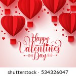 happy valentines day vector... | Shutterstock .eps vector #534326047