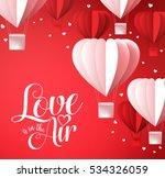 valentines day background with... | Shutterstock .eps vector #534326059