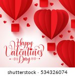 happy valentines day typography ... | Shutterstock .eps vector #534326074