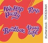 set of 4 hand drawn words  rap  ...   Shutterstock .eps vector #534326464