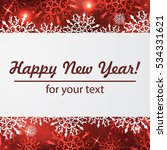 christmas greeting card with... | Shutterstock .eps vector #534331621