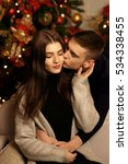 young romantic cute couple... | Shutterstock . vector #534338455