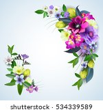 floral spring graphic design  ...   Shutterstock .eps vector #534339589
