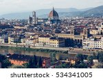 florence  italy  cityscape of... | Shutterstock . vector #534341005