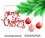 christmas postcard with... | Shutterstock .eps vector #534342934