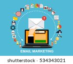 laptop with envelope and open...   Shutterstock .eps vector #534343021