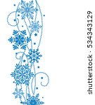 winter new year background with ... | Shutterstock .eps vector #534343129
