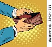 empty wallet  no money pop art...   Shutterstock . vector #534344911