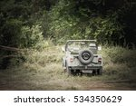 military vehicles parked on the ... | Shutterstock . vector #534350629