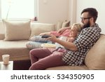 young couple relaxing in their... | Shutterstock . vector #534350905