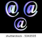 3d web signs giving it an arty... | Shutterstock . vector #5343535
