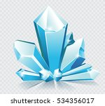 vector blue ice crystals  | Shutterstock .eps vector #534356017