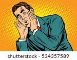 surprised emotional pop art... | Shutterstock . vector #534357589